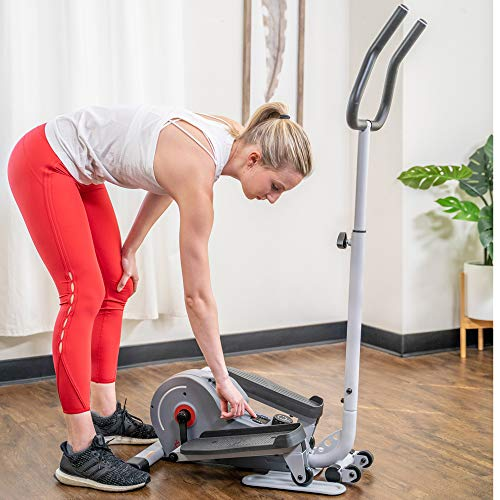 Product Image 19: Sunny Health & Fitness Magnetic Standing Elliptical with Handlebars – SF-E3988, Grey