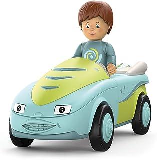 Toddys by siku 0101, Freddy Fluxy, 2-delig voertuig, combineerbaar, inclusief beweegbaar speelgoedfiguur, hoogwaardige vli...