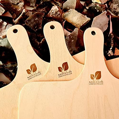 Natürliche Lebensfreude – 3 Stück Pizzaschieber aus Birken Holz - Ø 30 cm – 100% Made in Germany – Brotschieber – Brotschaufel – Pizzaschaufel – auch für Flammkuchen