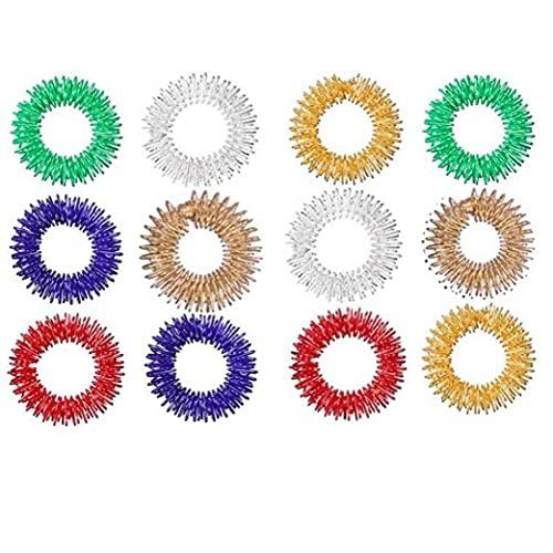 12 Unids Anillo De Dedo Juguete Alivio De Estrés Sensorial Primavera Dedos Anillos De Juguete Estrés De Juguete Niños Finger Anillo De Mensaje (Color Azar)