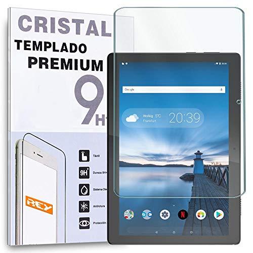 REY Protector de Pantalla para Lenovo Tab M10 10.1' 2018 TB-X505F TB-X505L - SMART TAB M10 HD 10.1' 2020, Cristal Vidrio Templado Premium, Táblet