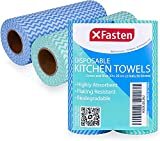 XFasten Disposable Kitchen Towels, 11.8 inches x 7.87 inches, Set of 2...