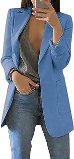 FSSE Womens Blazer Open Front Work Basic Draped Asymmetric Cardigan Jacket