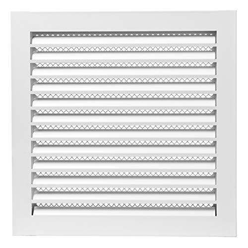 300 x 300 mm, color blanco, protección contra la intemperie
