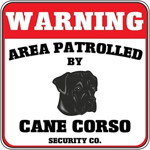 Monsety Home Decor teken waarschuwing gebied gepatrouleerd door Cane Corso Hond Beveiliging Co Crossing Metalen Tin Teken voor Outdoor Indoor Gebruik Yard Hek Teken