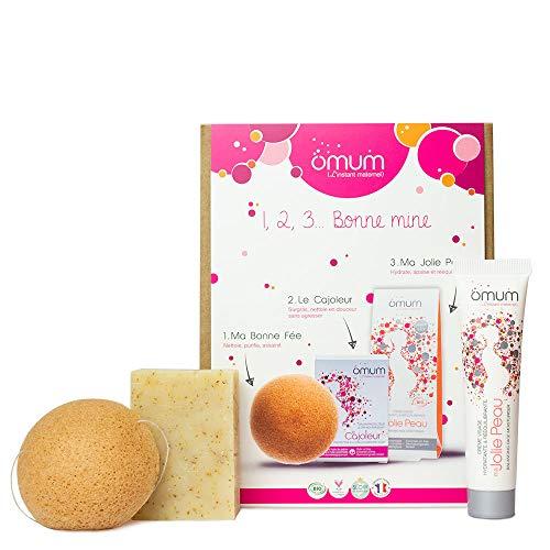 Omum - 1,2,3. Bonne Mine - Coffret de soins visage 100% naturels grossesse & post-grossesse - Bio