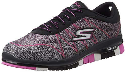 Skechers 2016 Ladies GO Flex Walk Ability Lightweight Womens Street Shoes Black/Hot Pink 3UK