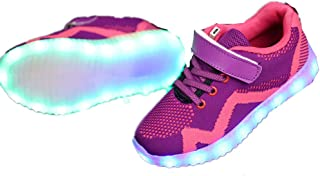 Christmas Night Unisex LED Shoes Breathable Sneakers Light Up Shoes for Women Men Girls Boys
