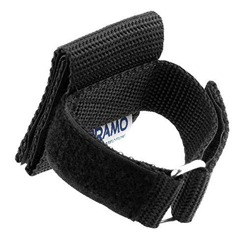 OBRAMO Handschuhhalter Polizei Security an Koppel Gürtel für Einsatzhandschuhe, vertikale Trageweise, Halterung Holster Handschuhhalterung