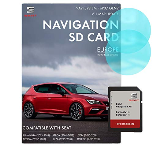 SEAT Navigation AS SD-Karte | Letztes Update 2020 | SEAT Navigation SD-Karte für Europa | SEAT Navi System 6P0 / MIB2
