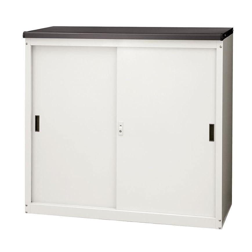 乳白色遊びますユダヤ人ぼん家具 物置 屋外 中型 鍵付 スチール製 撥水加工 収納庫 幅92.7×奥行50×高さ83cm