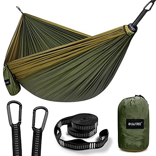 G4Free Large Camping Hammock 2 Person with Tree Straps Portable Parachute Hammock for Backpacking, Travel, Beach, Camping, Hiking, Backyard