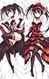 Kurumi Tokisaki - Date a Live Anime Darling Hugs Covered Zipper Body Pillow Case, Soft Cover Double Sided Throw 2 Way Tricot Pillowcases 160 x 50cm(62.9in x 19.54in)