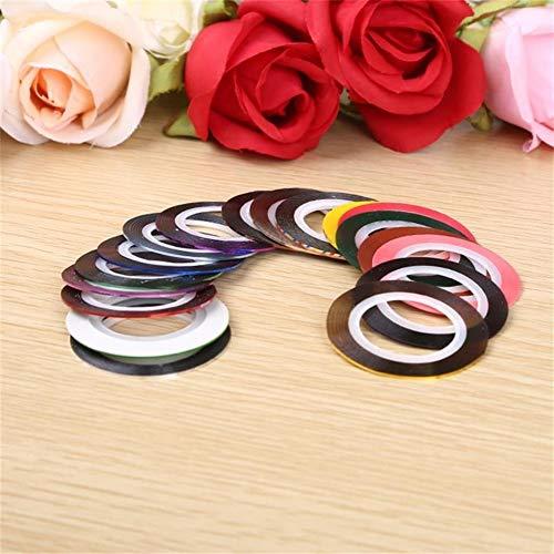 ZNYD 10pcs / lot Couleurs Mix Rolls Striping Line Ruban Nail Art Décoration Sticker Bricolage Conseils Nail Outils manucure