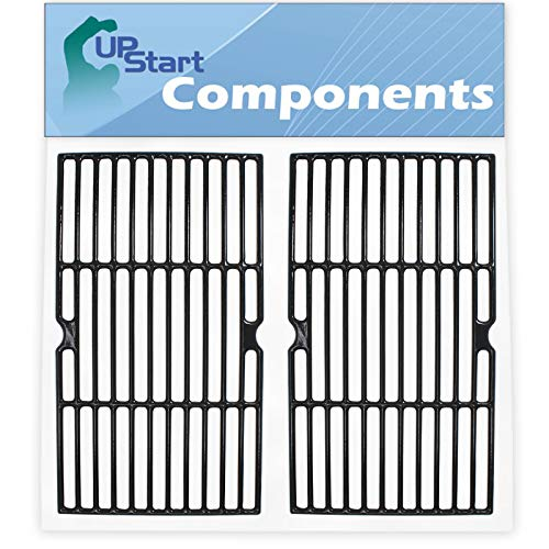 """UpStart Components 2-Pack BBQ Grill Cooking Grates Replacement Parts for Savor Pro GD4205S-M - Compatible Barbeque Cast Iron Grid 16 3/4"""""""
