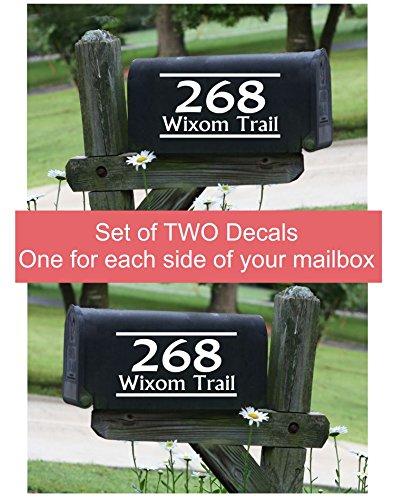 Personalized Mailbox Decal Address Mailbox Stickers Mailbox Address Mailbox Lettering Mailbox Vinyl Decal Mailbox Monogram