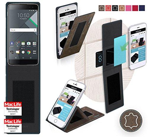 Hülle für Blackberry DTEK60 Tasche Cover Hülle Bumper   Braun Wildleder   Testsieger