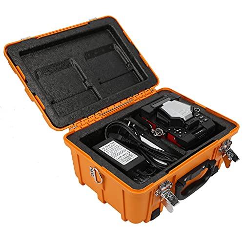 Fusionadora de Fibra Optica Empalmes de Fusión Automática de Fibra Óptica, FTTH Empalmador de Fusión de Fibra Óptica, Máquina de Empalme de Soldadura para Proyectos de Fibra óptica y Cable(110-240 V)