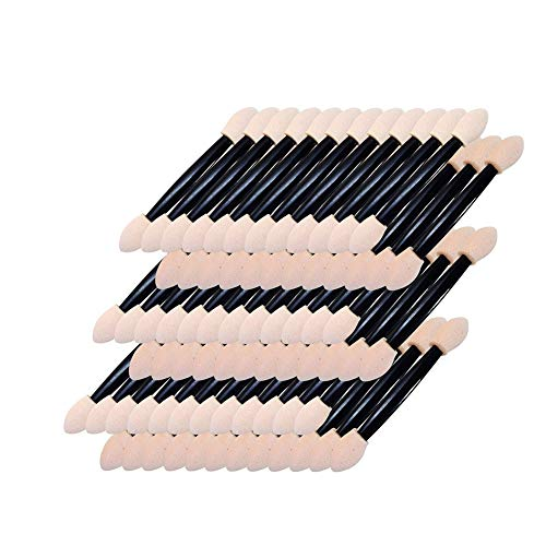 150 PCS à usage unique Ombre à paupières Brosses double face maquillage éponge Applicateur Pinceaux Fournitures Soins de Beauté