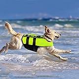 Namsan Chaleco Salvavidas para Perros Chaleco Reflectante para Mascotas con Ajustable Seguridad Natación Chaleco para Grande Perro-L
