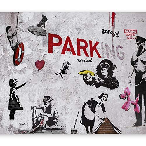 murando Fototapete 400x280 cm Vlies Tapeten Wandtapete XXL Moderne Wanddeko Design Wand Dekoration Wohnzimmer Schlafzimmer Büro Flur Banksy Graffiti Mural i-A-0107-a-c