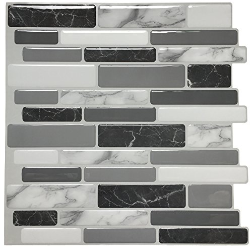 Art3d Peel and Stick Wall Tile for Kitchen Backsplash, 12'x12',...