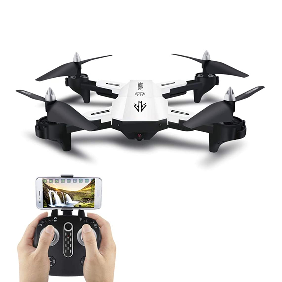 WANGKM Folding Aerial Drone Mini Long Endurance Four-axis Aircraft Real-time Transmission Led Lights Fixed Height Remote Control Aircraft Cross-Border Toy Drone
