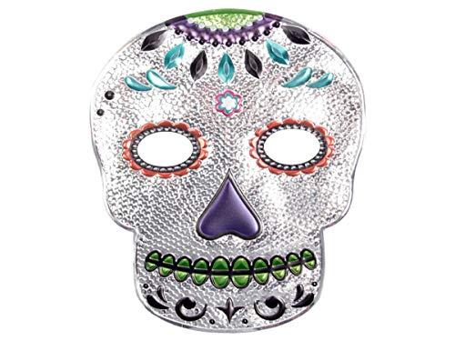 Alsino Halloween Maske Skelett Gruselmaske Totenkopfmaske Kunststoff-Maske Totenkopf Schädel Horrormaske, Variante wählen:P973037-2