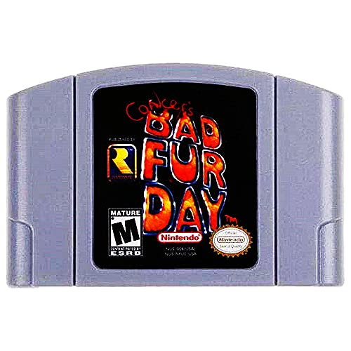 Game Cartridge for Nintendo 64  Cooker s Bad Fur Day High Definition Game Cartridge Card Compatible for Nintendo 64  Fond memories of childhood Good collectibles  US Version