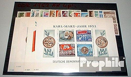 barato y de alta calidad Prophila sellos para coleccionistas coleccionistas coleccionistas  DDR (RDA) 1953 con Marx bloques 8,9 Un y B matasellado completo año en limpio conservación  en promociones de estadios