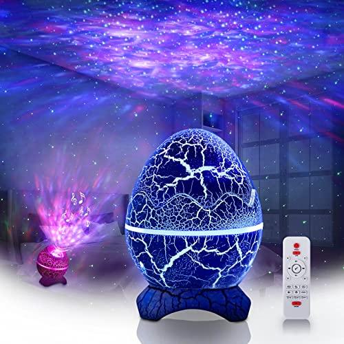 LED Sternenhimmel Projektor, Moonfrow Galaxy Projektorlicht, Nachtlicht projektor mit beruhigenden Aurora-Effekten, weißes Rauschen für den Schlaf, Himmelsprojektor mit Fernbedienung zur Dekoration