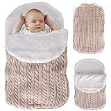Manta para bebé recién nacido, manta gruesa y cálida para cochecitos de...