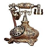 AJZGF Teléfono Elegante Y Creativo Que Gira El Teléfono Teléfono De Resina De...