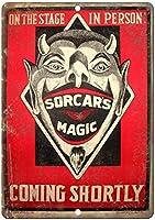 マジックサーカスブリキ金属サインバーレトロ壁の装飾ポスターホームクラブ居酒屋壁ドア飾りアルミサイン