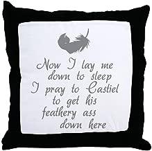 FiuFgyt Supernatural Castiel Throw Pillow Cover Home Decor Pillow Case Zipper Couch 18 x 18
