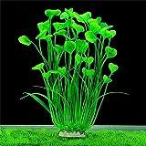 DAGUAI Acuario Artificial Plantas de Agua de plástico Hierba de Hierbas acuáticas Tanque de Pescado Aquarium Plant Decoraciones for el Paisaje del Tanque de Peces (Color : Green, Size : 40cm)