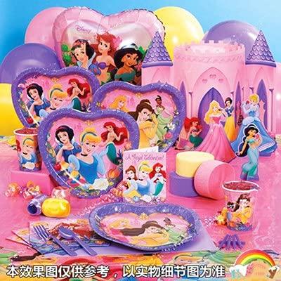 Vajilla de Fiesta,CBOSNF 72 PCS Suministros de Fiesta de Princesa, Vajilla Fiesta de Cumpleaños Para Niños,8 Platos,8 Tazas,16 Servilletas etc