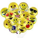 Yizhet Palloncini Emotion per Party,18 Pollici Party Palloni Foil Colorati gonfiabili 10 Articoli per Feste Palloncino (24 pz) (18'')