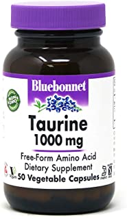 Bluebonnet Taurine 1000 Mg Vitamin Capsules, 50Count