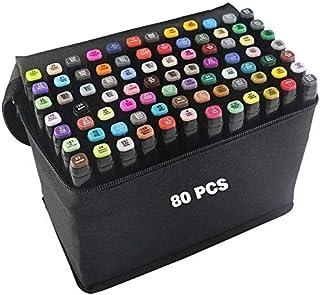 comprar comparacion Rotulador de 80 Colores Marker Pen Marcadores Manga Creativos Rotulador Set de Rotuladores de Boceto Hecho a Mano(Arte)