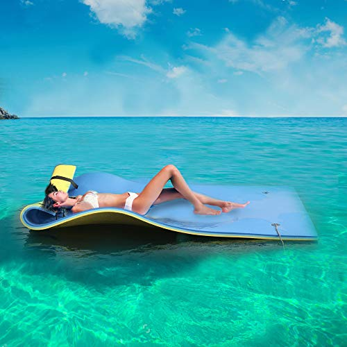 18 ft x 6 ft Super-Sized Floating Pad for Lake, Pool, Ocean, Beach, Vacation, Water Activity, Sport,...