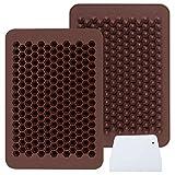 Webake 2 moldes chips de chocolate con 202 cavidades antiadherentes de silicona mini molde...