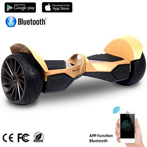 EVERCROSS Scooter Skateboard, con Bluetooth, App e LED, Motore 700W(2 * 350W), con Due Ruote 8.5in,