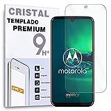 REY Protector de Pantalla para Motorola Moto G8 Plus, Cristal Vidrio Templado Premium