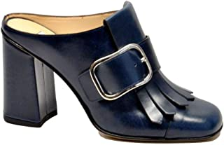 null Bruglia Women's 6472NIRVANABLUO Blue Leather Heels