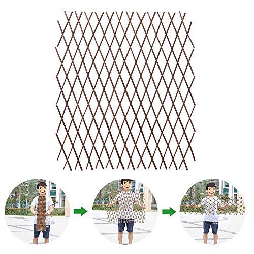 presentimer Clôture en Bois Durable Rétractable Plante Escalade Cadre Treillis Protégé Fleur Décoration Stand Clôtures