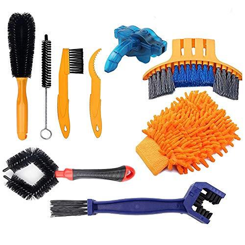 Anyingkai 9 Pcs Fahrrad Reinigungsset,Bike Cleaning Tool Set,Fahrrad Reinigungsset Bürste,Reinigungsbürste Fahrrad Set,Fahrrad Reinigungsbürste,Fahrrad Reinigung Set