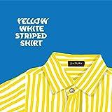 Yellow White Striped Shirt