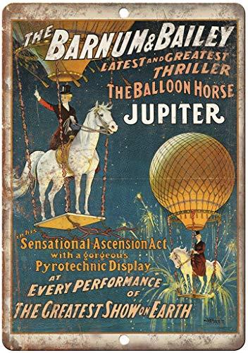 Lorenzo The Barnum Bailey Jupiter Balloon Horse Vintage Metal Vintage Metallblechschild Wand Eisen Malerei Plaque Poster Warnschild Cafe Bar Pub Bier Club Dekoration