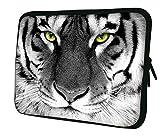Luxburg 17' pouces Housse Sacoche Pochette pour ordinateur portable / tablet - Blanc Tigre